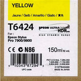 Epson T642400 7900/7890/9890/9900 Ultrachrome HDR Ink 150ml Yellow, papers ink large format, Epson - Pictureline  - 1