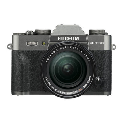 Fujifilm X-T30 Mirrorless Body with XF 18-55mm Lens Kit (Charcoal)
