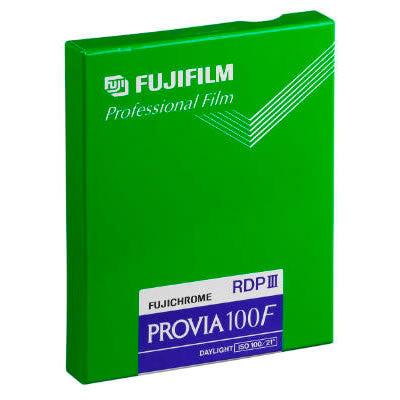 Fujichrome Provia 100F 4x5 Film (20 Sheets), camera film, Fujifilm - Pictureline