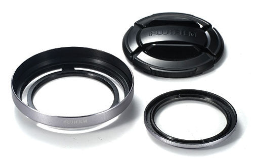 Fujifilm X20 Lens Hood and Filter Set Silver, lenses hoods, Fujifilm - Pictureline