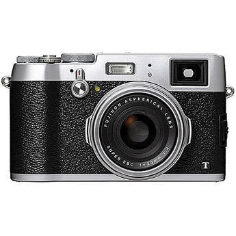 Fujifilm X100T Digital Camera (Silver), camera point & shoot cameras, Fujifilm - Pictureline  - 1