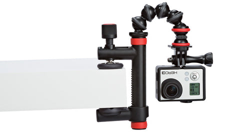 Joby Action Clamp & GorillaPod Arm (Black/Red), video gopro mounts, Joby - Pictureline  - 1