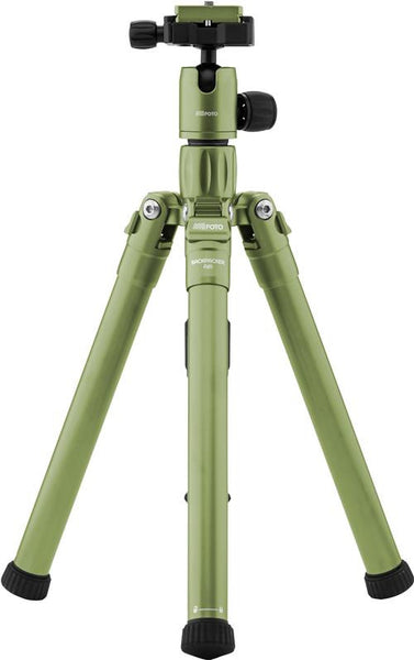 MeFOTO BackPacker Air Tripod Kit (Green), tripods travel & compact, MeFOTO - Pictureline  - 1
