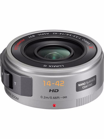 Panasonic Lumix 14-42mm f3.5-5.6 OIS Micro Four Thirds Lens (Silver), lenses mirrorless, Panasonic - Pictureline