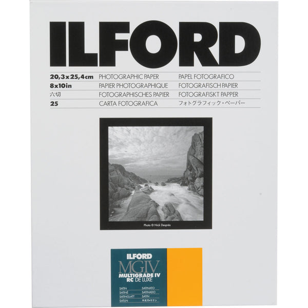 Ilford MG IV RC Satin 8x10 25, camera film darkroom, Ilford - Pictureline