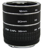 Kenko Auto Extension Tube Set DG for Nikon (12, 20, and 36mm), lenses optics & accessories, Hoya - Pictureline  - 1