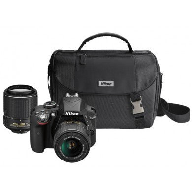 Nikon D3300 Digital SLR Camera 2 Lens Kit (18-55mm and 55-200mm ) + Bag, discontinued, Nikon - Pictureline  - 1