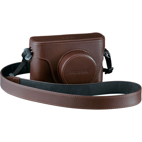 Fujifilm X100S/X100T Leather Camera Case (Brown), bags pouches, Fujifilm - Pictureline