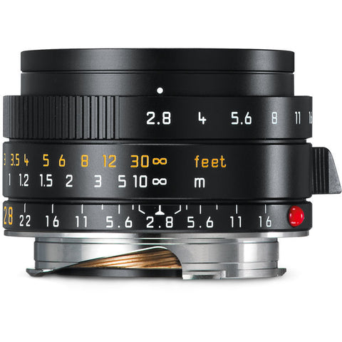Leica Elmarit-M 28mm f/2.8 ASPH Lens (Black Anodized)