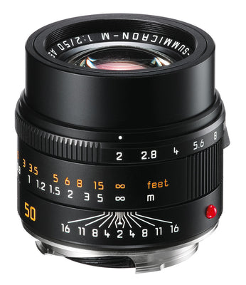 Leica 50mm f/2.0 APO-Summicron-M ASPH Lens (Black Anodized), lenses mirrorless, Leica - Pictureline