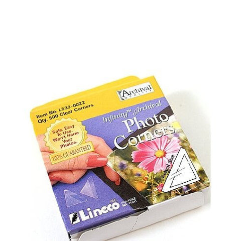 "Lineco Clear Photo Corners 5/8"""" 500 count, papers mounting supplies, Lineco - Pictureline"