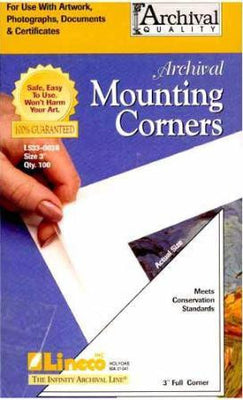 "Lineco Clear Photo Mounting Corners  1 1/4"""" 250 count, papers mounting supplies, Lineco - Pictureline"