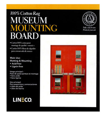 "Lineco Kensington Mounting Board (White, 8x10"""", 4 ply, 10 Sheets), papers mounting supplies, Lineco - Pictureline"