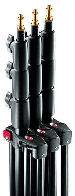 Manfrotto 1004BAC-3 Black Ranker Stand Air Cushioned 12' - 3 Pack, supports stacker stands, Manfrotto - Pictureline