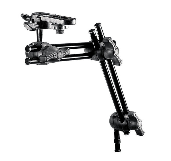 Manfrotto 396B-2 2-Section Double Articulated Arm With Camera Bracket, supports general accessories, Manfrotto - Pictureline
