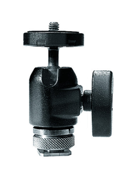 Manfrotto 492 Micro Ball Head w/hot shoe mount, tripods ball heads, Manfrotto - Pictureline