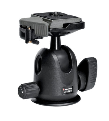 Manfrotto 496RC2 Compact Ball Head, tripods ball heads, Manfrotto - Pictureline