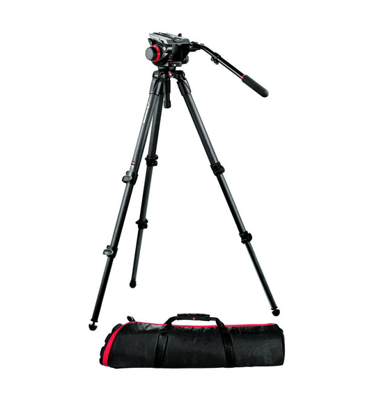 Manfrotto Video 504HD, 535K Carbon Fiber Video Tripod System w/Bag, tripods video tripods, Manfrotto - Pictureline