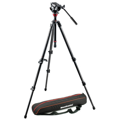 Manfrotto Video MVH500AH Pro Fluid Head with 755CX3 Tripod and Bag, tripods video tripods, Manfrotto - Pictureline  - 1