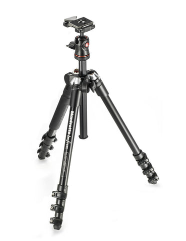 Manfrotto MKBFRA4-BH Befree Compact Travel Tripod Black, tripods travel & compact, Manfrotto - Pictureline  - 1