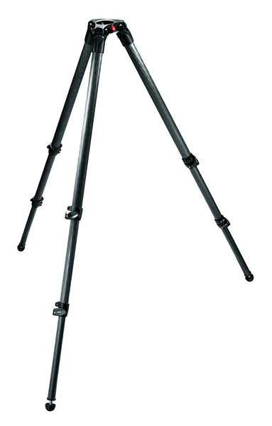 Manfrotto Video 535 Carbon Fiber Tripod 3 Section Single Tube with 75mm Bowl, tripods video tripods, Manfrotto - Pictureline