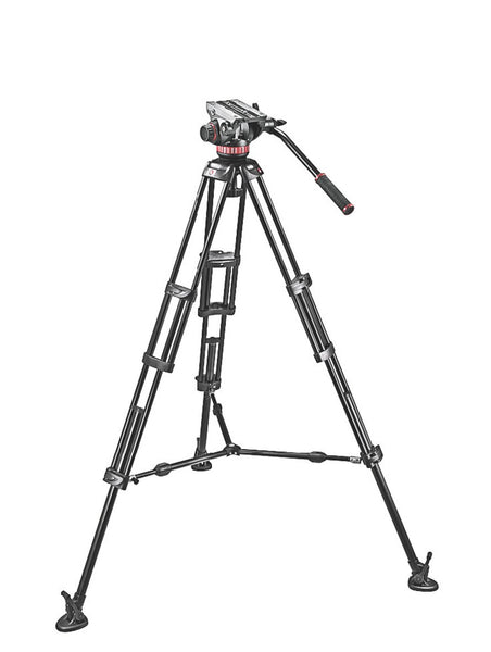 Manfrotto Video MVH502A, 546BK Tripod System w/Bag, tripods video tripods, Manfrotto - Pictureline