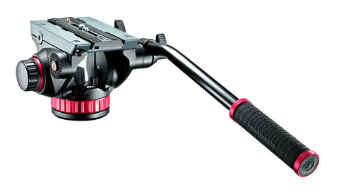 Manfrotto Video MVH502AH Pro Fluid Head with Flat Base, tripods video heads, Manfrotto - Pictureline