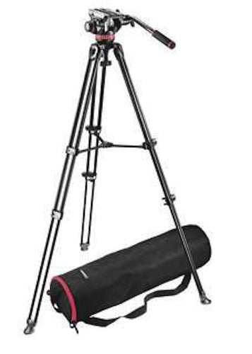 Manfrotto Video MVH502A, MVT502AM Tripod System w/Bag, tripods video tripods, Manfrotto - Pictureline
