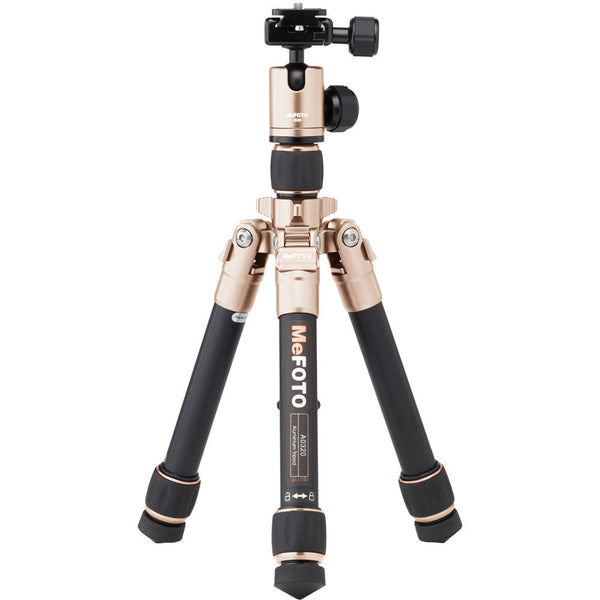 MeFOTO DayTrip Tripod Kit (Gold), discontinued, MeFOTO - Pictureline