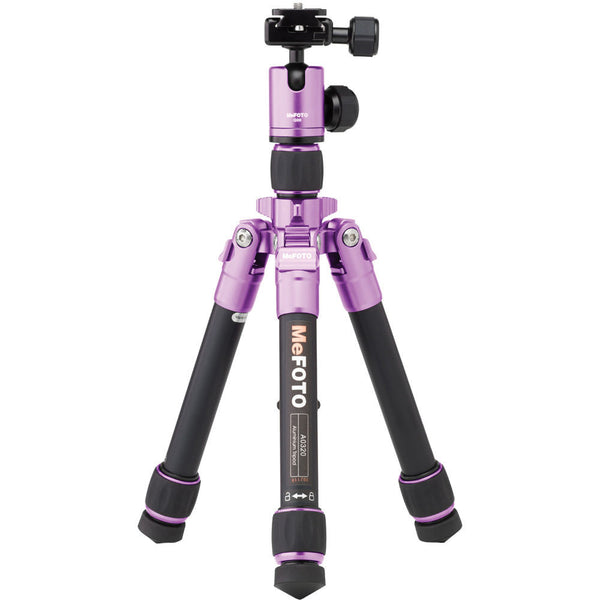 MeFOTO DayTrip Tripod Kit (Purple), tripods travel & compact, MeFOTO - Pictureline  - 1