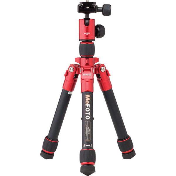 MeFOTO DayTrip Tripod Kit (Red), tripods travel & compact, MeFOTO - Pictureline  - 1