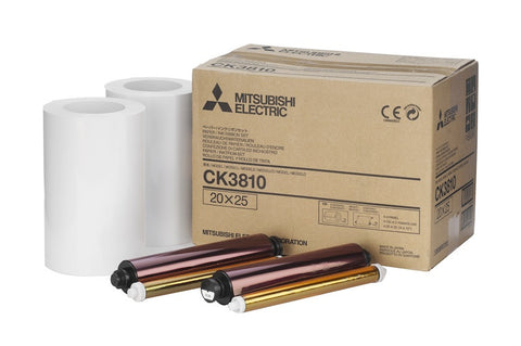 "Mitsubishi Printer 8""x10"" Roll Paper 2x130 Prints (3800), papers thermal paper & ribbon, Mitsubishi Imaging - Pictureline"