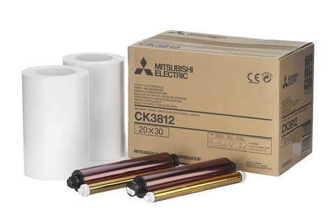 "Mitsubishi Printer 8""x12"" Roll Paper 2x110 Prints (3800), papers thermal paper & ribbon, Mitsubishi Imaging - Pictureline"