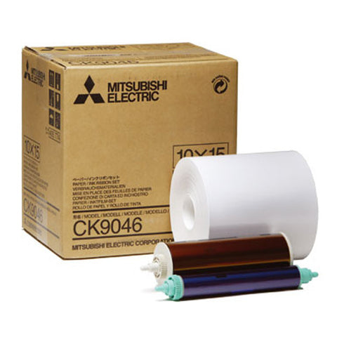 "Mitsubishi 4""x6"" Printer Roll Paper 600 Prints (9550DW), papers thermal paper & ribbon, Mitsubishi Imaging - Pictureline"