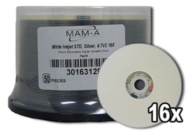 Mitsui DVD -R Silver 16X 50 Pack, computers cd/dvd drives, Mitsui / MAM/A - Pictureline