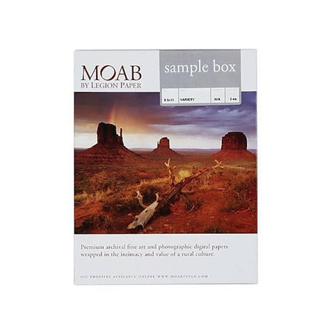 Moab Sample Box 8.5x11 - 2 sheets each, papers sheet paper, Moab Paper Company - Pictureline