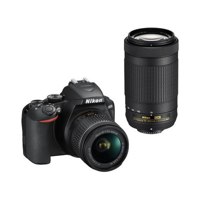Nikon D3500 Digital SLR Camera 2 Lens Kit (AF-P 18-55mm & 70-300mm)