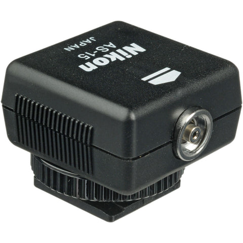 Nikon AS-15 Sync Terminal Adapter, lighting wireless triggering, Nikon - Pictureline