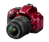 Nikon D5200 DX Digital SLR Camera w/ 18-55mm DX VR Lens (Red), discontinued, Nikon - Pictureline  - 3