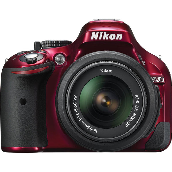 Nikon D5200 DX Digital SLR Camera w/ 18-55mm DX VR Lens (Red), discontinued, Nikon - Pictureline  - 1