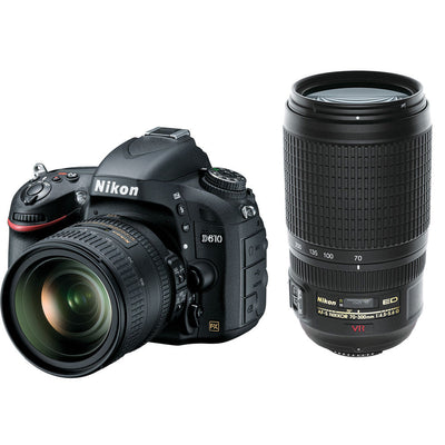 Nikon D610 Digital SLR with 24-85mm and 70-300mm VR Nikkor Lenses, discontinued, Nikon - Pictureline  - 1