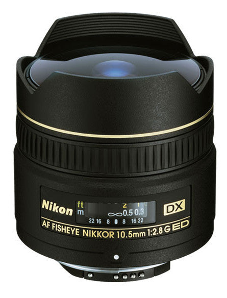 Nikon 10.5mm f/2.8G ED-IF AF DX Fisheye Lens, lenses slr lenses, Nikon - Pictureline  - 1