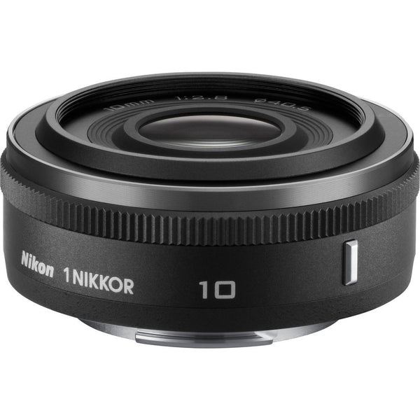 Nikon 1 Nikkor 10mm f/2.8 CX Lens Black, lenses mirrorless, Nikon - Pictureline  - 1