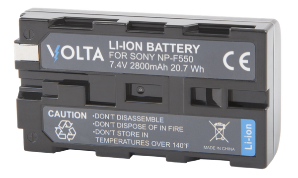Volta NP-F550 Li-ion Rechargable Battery*, lighting led lights, F&V - Pictureline