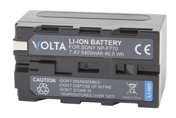 Volta NP-F770 Li-ion Rechargeable Battery*, lighting led lights, F&V - Pictureline