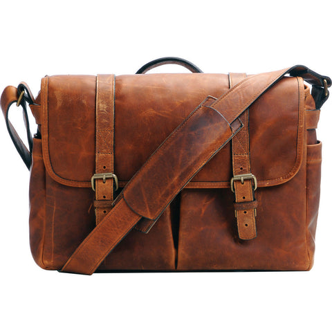 ONA The Brixton Camera and Laptop Messenger Bag Antique Cognac Leather, bags shoulder bags, ONA - Pictureline  - 1