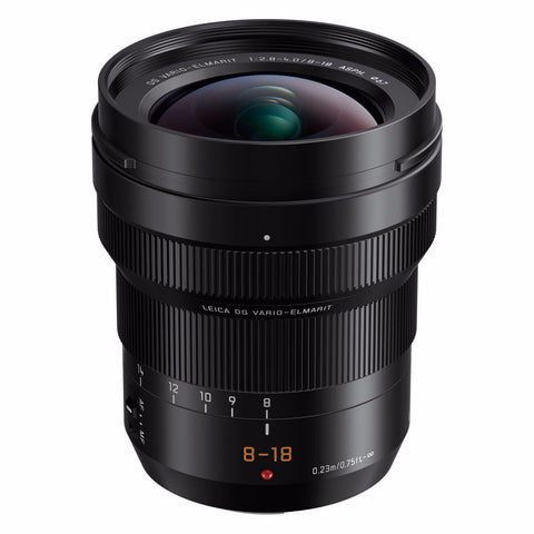 Panasonic Leica 8-18mm f/2.8-4.0 ASPH DG Vario-Elmarit Micro Four Thirds Lens