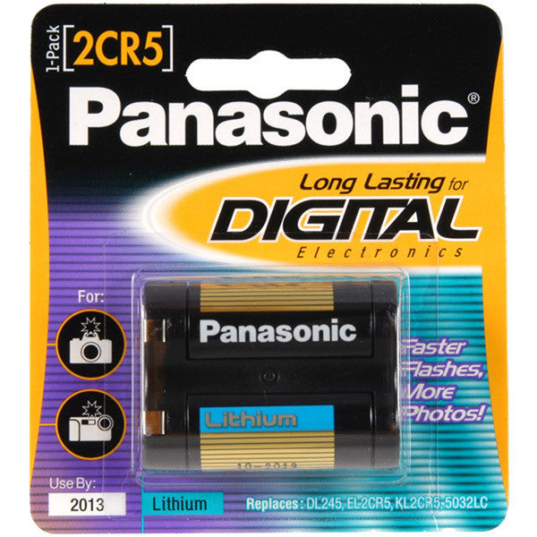 Panasonic 2CR5 Battery, camera batteries & chargers, Sanyo - Pictureline