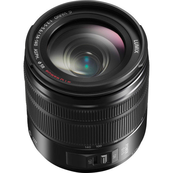 Panasonic Lumix G VARIO 14-140mm f/3.5-5.6 ASPH. Power O.I.S. Lens (Matte Black), lenses mirrorless, Panasonic - Pictureline
