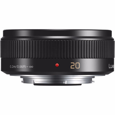 Panasonic Lumix 20mm f1.7 II G Micro Four Thirds Pancake Lens (Black), lenses mirrorless, Panasonic - Pictureline  - 1